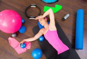 Women Exercises on Floor