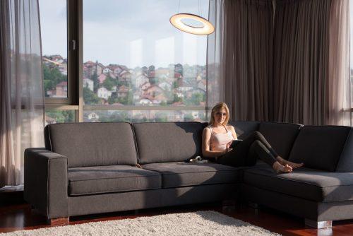 Women In living room