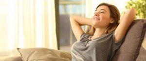 Women in room relaxing