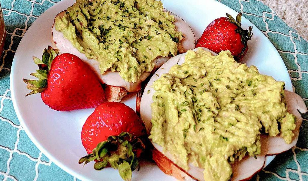Fiber Avacado Toast and Strawberries