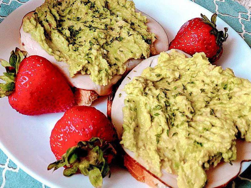 Fiber Avacado Toast and Strawberries