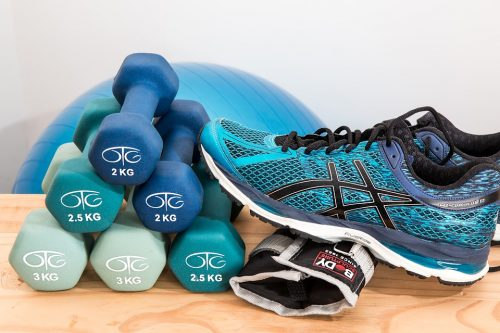Sneaker and Dumbbells