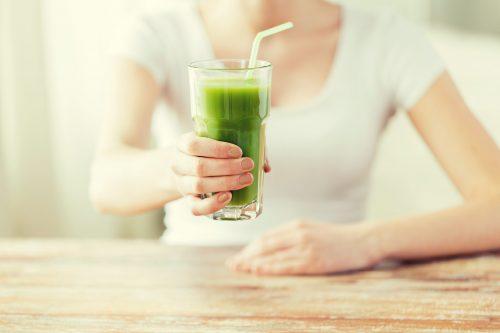 Women Servers Green Drink